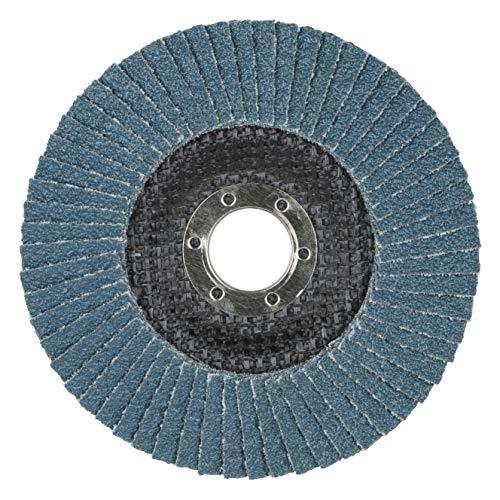 Wolfcraft Discos de láminas abrasivas zirconio/corindón para amoladora, rectificado basto de superficies metálicas