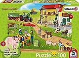 Schmidt Spiele 56404 - Puzzle Infantil (100 Piezas), diseño de Granja y Tienda de Granja