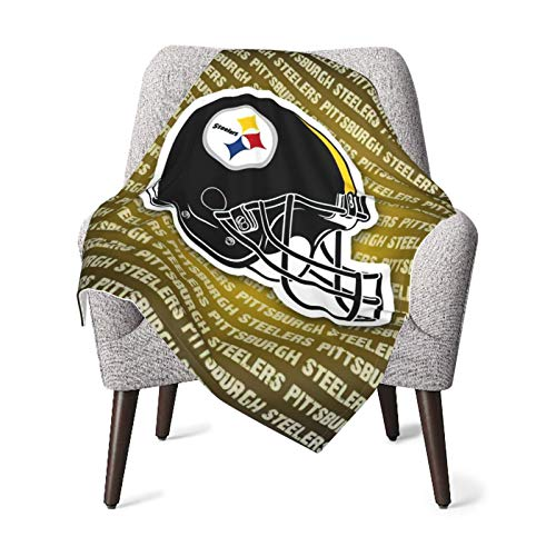 Pittsburgh Steelers Rest-Eazzzy Flannel Blanket Or Fluffy Blanket For Baby, Super Soft Warm Blanket For Infant Or Newborn, Receiving Blanket For Crib, Winter Blanket, Stroller, Outdoor, Decorative