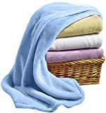 Baby So...Soft & Warm - Plush Baby Blankets, Blue, Pink, Yellow, White for Boys, Girls, Kids, Newborn, Infant, Toddler, Unisex, Ultra Soft, Fuzzy, Cozy, Blanket for Crib, Stroller, nap, 30x40 inches