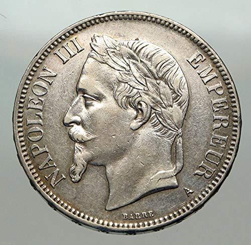 1 FR 1870A FRANCE Emperor NAPOLEON III Antique Arms AR Denomination_in_description Good Uncertified