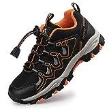 Zapatillas de Trail Running para Niños Verano Zapatillas de Deporte Unisex Niños Negro 36