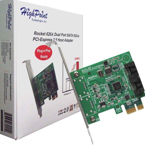 HighPoint Rocket 620 Massenspeicher Controller 2 Sender Kanal SATA-600 PCI-e 2.0 x1