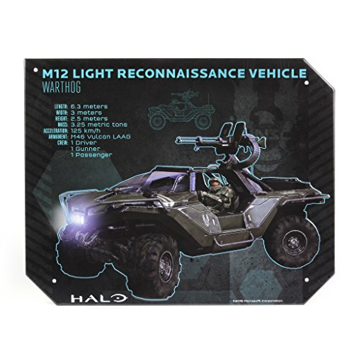 Halo Warthog Specs Tin Sign