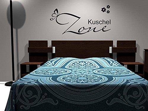 GRAZDesign Schlafzimmer Wandtattoo Über Sofa für Wohnzimmer, Home Dekoration modern Kuschelecke, Wandtattoo Kuschel Zone / 119x57cm / 080 braun