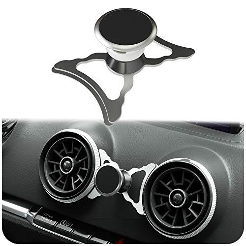 innoGadgets magnetische Handyhalterung kompatibel mit Audi A3/S3/RS3 | Universelle Halterung für Smartphone, GPS & Tablet | 360 verstellbar für optimale Sicht | Silber