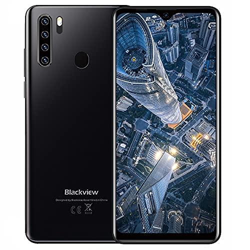 Teléfono Móvil, Blackview A80Plus Smartphone Android 10 moviles Libre, 4GB+64GB, 6.49' HD+ Water-Drop Screen Smartphone Barato, 4680mAh, 13MP+8MP, Dual SIM/NFC/GPS/Face ID