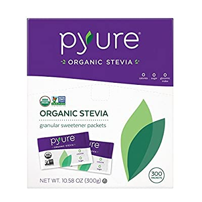 Pyure Organic Stevia Sweetener Packets, Granulated Sugar Substitute by Pyure