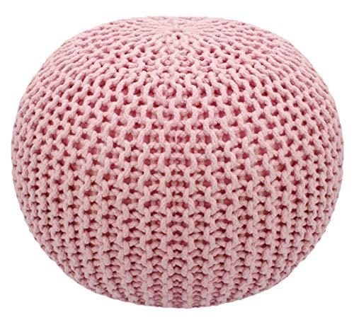 Cotton Craft – Puf tejido a mano estilo Dori – Otomano de piso – Cordón trenzado 100% algodón, hecho a mano y cosido a mano –...