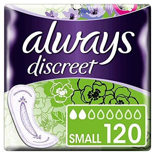 Always Discreet Inkontinenz-Einlagen, klein, für empfindliche Blase, 6x 20Stück