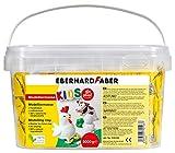 Eberhard Faber 570103 - Modelliermasse 3 kg weiß im praktischen Eimer, lufthärtend, tonähnlich,...