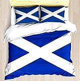 Dodunstyle Scozia - Set Copripiumino Morbido copriletto Set Federa Set di Motivi Floreali Stampati Unici Copripiumino Coperta Coperta Facile da Pulire Anti-allergico Morbido Morbido
