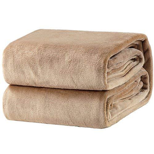 Bedsure Kuscheldecke Camel XL Decke Sofa, weiche& warme Fleecedecke als Sofadecke/Couchdecke, kuschel Wohndecken Kuscheldecken, 150x200 cm extra flaushig und plüsch Sofaüberwurf Decke