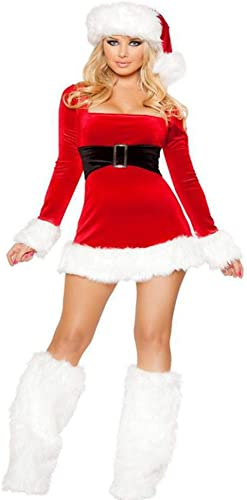 comprar barato CVCCV CVCCV CVCCV Nuevo Vestido De Navidad De Manga Larga Fiesta De Navidad Fiesta Disfraz Traje De Alto Rendimiento Material De PoliéSter Ropa De mujer  ventas en linea