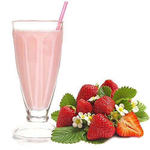 Erdbeer Geschmack Milchshake Pulver 1 Kg Gino Gelati zum Milchshakes selber machen