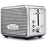 BELLA (14387) Linea Collection 2 Slice Toaster with Extra Wide Slot, Polished Stainless Steel