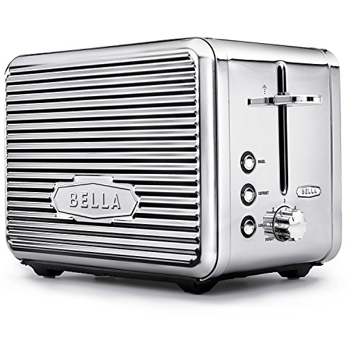 BELLA (14387) Linea Collection 2-Slice Toaster with Extra Wide Slot & Custom Settings, Polished...
