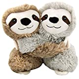 Warmies microwavable French Lavender Scented Sloth hugs, Multicolor, Medium