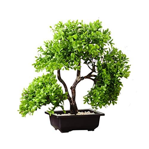Bonsai Simulación creativa de maceta artificial de árboles de pino En Milán, Simulación interior de las plantas verdes decoración, de estar de decoración de interior, flores falsas, plásticas artifici