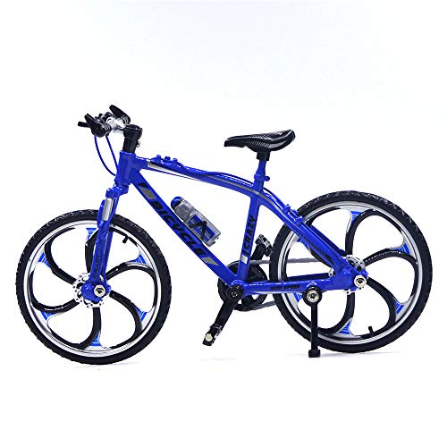 Ailejia Alloy Mini Bicycle Model Finger Mountain Bike Mini Bicycle Cool Boy Toy Decoration Crafts for Home (Racing Bike Blue)