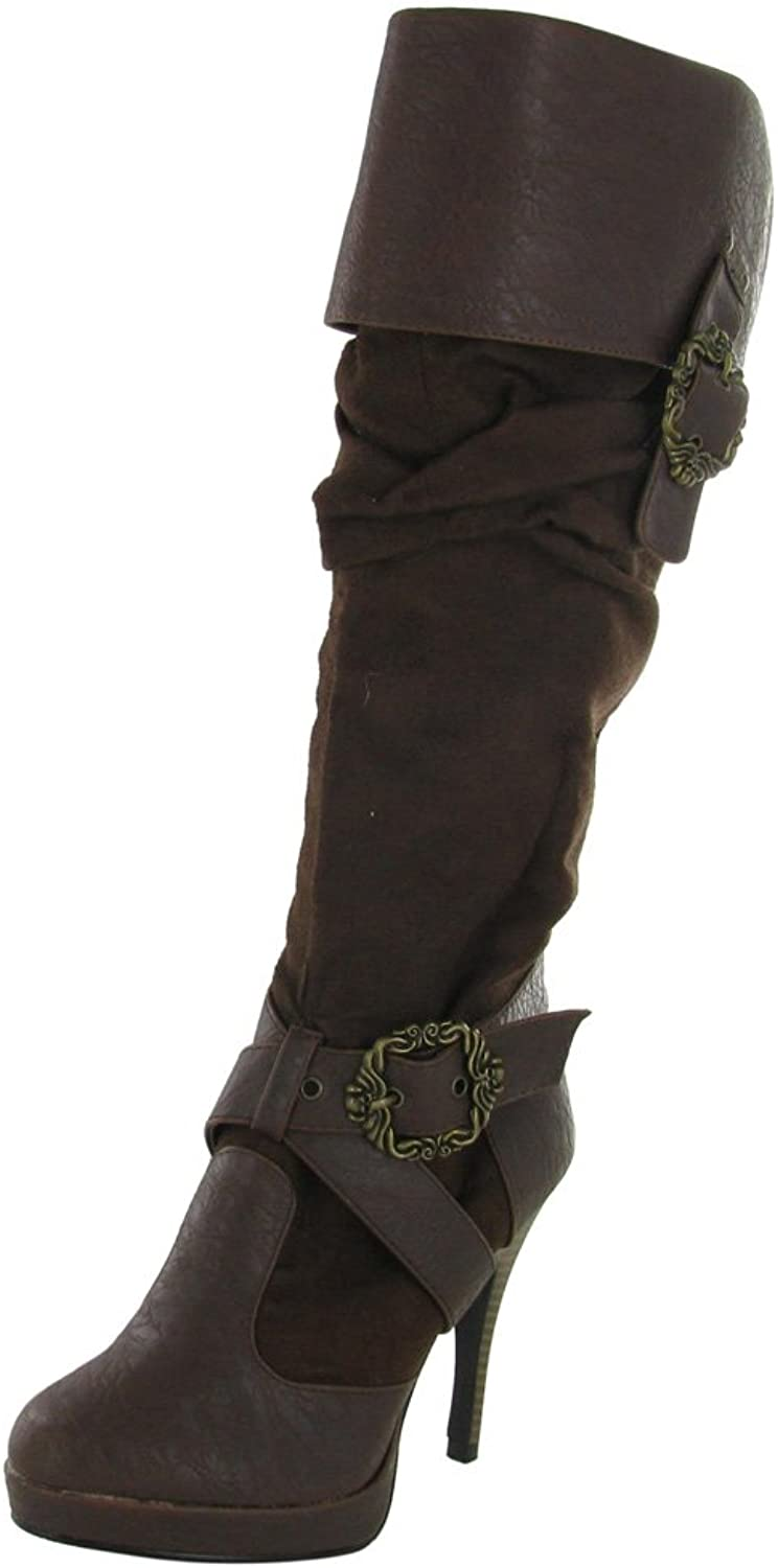 Funtasma Carribean-216 Womens Boots, Brown Distressed Pu-Microfiber, Size - 11
