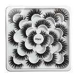 NewKelly 10 Pairs Of Lotuses With 5D Mink False Eyelashes And Natural Dense Eyelashes
