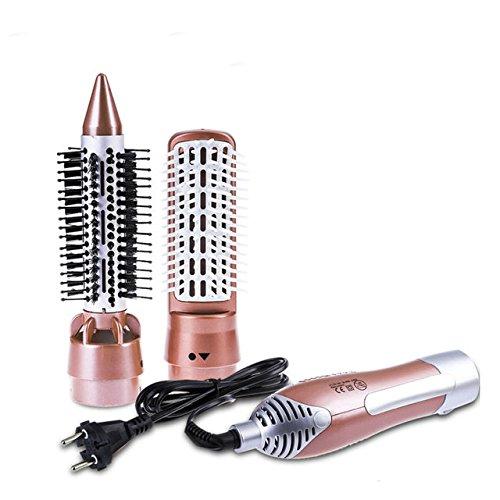 Winnes cepillo de aire caliente 2 en 1 cepillo secador Cepillo eléctrico alisador para pelo eléctrica placa ondas pelo profesional iones antiestático Temperatura Ajustable Potencia 1200W Rosa 803079