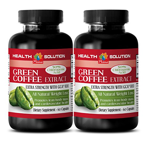 Weight Loss for People who Feel Too Much - Green Coffee Bean Extract - Green Coffee Herbal - 2 Bottles 120 Capsules