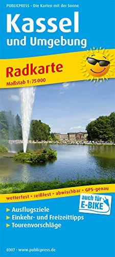 Kassel und Umgebung: Radkarte mit Ausflugszielen, Einkehr- & Freizeittipps, wetterfest, reissfest, abwischbar, GPS-genau. 1:75000 (Radkarte: RK)