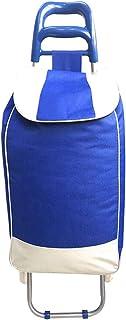 Carro de la Compra del Carro de la Compra portátil de la Carretilla del Carro portátil con el Bolso sellable del paño (Color : Blue)