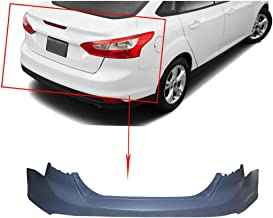 NEW Primered Rear Bumper Cover Replacement for 2012-2014 Ford Focus Sedan