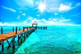 Steg am Meer Karibik Malediven Bild XXL Wandbild Kunstdruck