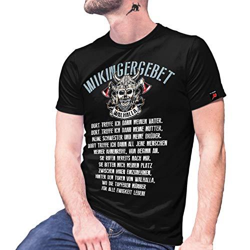 Copytec Wikingergebet Wikinger Walhalla 13te Krieger Kämpfer Ahnen Götter #29193, Größe:S, Farbe:Schwarz