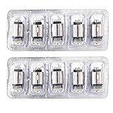 10 Resistenze Ricambio Coil Q16 S14 Q14 P16A, 3 Resistenza Con Cotone Biologico, Senza Nicotina(1.6Ω)