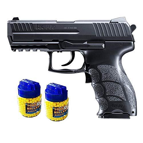 Choren Kids Heckler & Koch P30 Pistolet à Billes Electrique métal + 2000 Billes - Airsoft