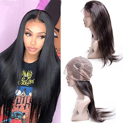 Maxine Hair 360 Lace Frontal Wig Human Hair Straight Hair Wigs Pre Plucked with Baby Hair 180% Density Straight 360 Lace Front Wigs for Black Women(14