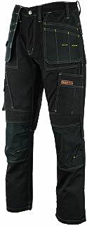 Hommes's Pro Pantalons de Travail Pantalons Cordura Genou Travail Pantalons Cargo Combat Travailleur Tailles comme Dewalt ...