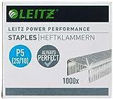 Leitz Punti Power Performance P5 (25/10) per cucitrici ad alta capacità, Acciaio galvanizzato, Confezione da 1000 punti, 55740000