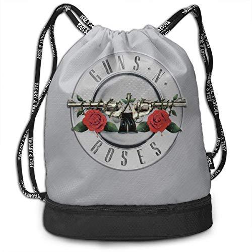 Lightweight Multifunction GUN-S AND RO-SES Fashion Bundle Backpack Shoulder Bags Outdoor Drawstring Bag Drawstring Backpack