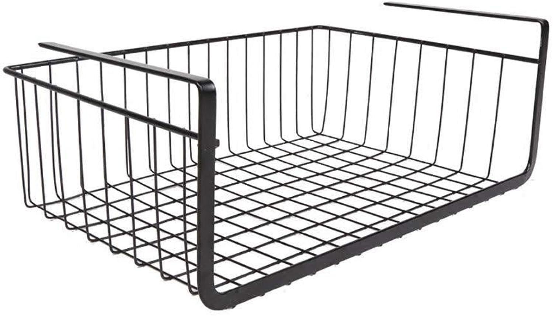 Cesta de almacenamiento de rejilla de alambre de metal - para los cubiertos de cocina Armario de bao (Talla   40× 26× 15cm)