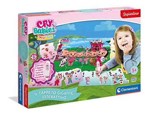 Clementoni - 16279 - Sapientino - Il Tappeto Gigante Interattivo Cry Babies - Made in Italy, puzzle bambini, gioco educativo bambini 3 anni, gioco elettronico parlante (versione in italiano)