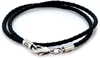 3mm (0.12 inch) Black Braided Necklace (CL13 Black) Tribal Surf Jewelry