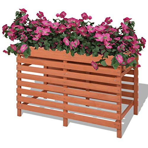 Canditree Wooden Elevated Planter Box, Raised Garden Bed with Legs for Flowers Vegetables Grow (39.3'x19.6'x27.9')
