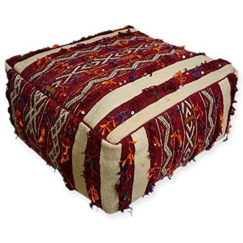 L'ORIENT Interior Sitzkissen Berbere ca 65x65cm inklusive Füllung | Marokkanischer Sitzhocker, Textil- oder Lederpouf, marokkanische Sitzgelegenheit
