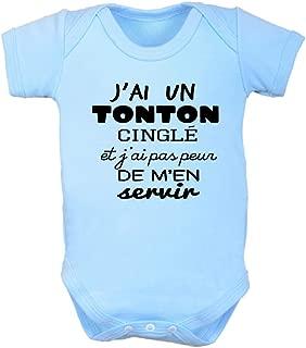 Zarlivia Clothing I Have The Best Uncle in The World Ensemble Tontons b/éb/é Cadeaux Hommes T Shirt /& Barboteuse