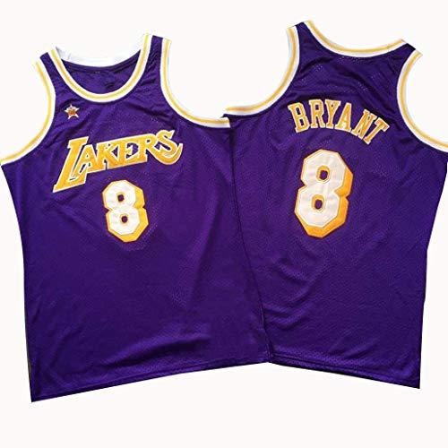 Auart # 8 Kobe Bryant Basketball Jersey NBA Los Angeles Lakers Lila Vintage Retro schnelltrocknende Outdoor Sports Uniform Weste (Color : Purple, Size : XS)