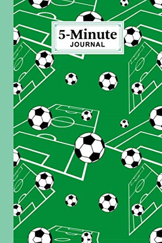 """Five Minute Journal: Football 5 Minute Journal For Practicing Gratitude, Mindfulness and Accomplishing Goals, 120 Pages, Size 6"""" x 9"""" Design By Alex Yaulok Lam"""