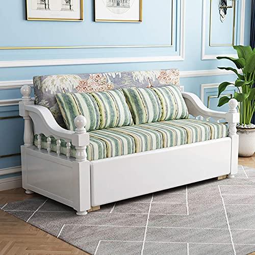 N/Z Home Equipment Upgrade Schlafsofa Faltbares Futon-Couch-Sofa Cabrio-Bett Multifunktionslagerung Loveseat Ausziehsofa für Wohnzimmer Wohnzimmermöbel 1.5M