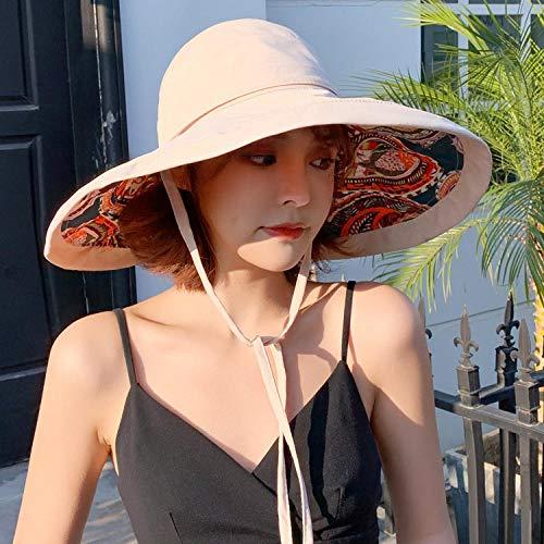 Yidajiu Hoeden voor Vrouwen Zomer Zon Hoed Floppy Grote Brede Brim Gezicht Bescherming Strand Hoed Vrouwelijke Dames Sunhat-Beige