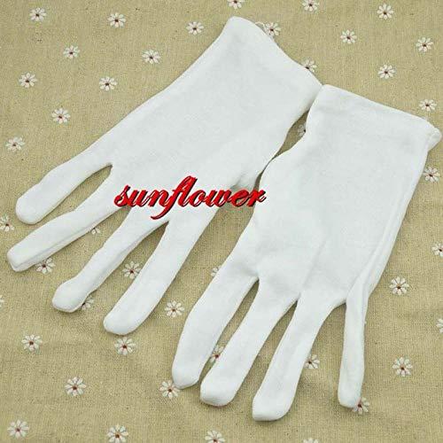 GBSTA Bruiloft Handschoenen Unisex Vrouwen Mannen Pols Lengte Witte Handschoenen Voor Prom Kostuum Dans Werk Feestjurk Decoratie Kerstmis Halloween Navidad